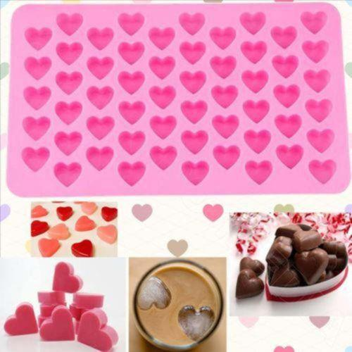 Heart Candy Silicone Ice Cube Mold Chocolate Mould Baking Pastry Tools Kitchen Dining Bar Cake Decorating Accessories Supplies