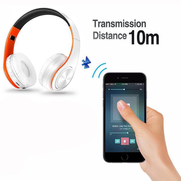 Ecouteurs casque sans fil Bluetooth casque stéréo musique casque prend en charge la carte SD avec micro pour ipad mobile
