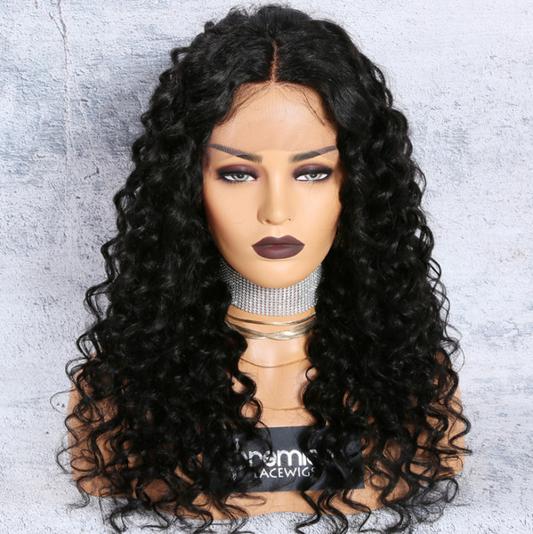 8a Lace Front Wigs Brazilian Remy Human Hair Loose Curly Natural Hairline Preplucked With Baby Hair