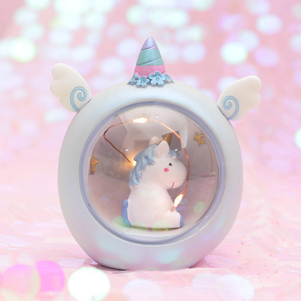 Powered Decoration Animals Table Starry Button From Bedroom Night Unicorn Switch Desk Mini 2019 Led Children Lamp For Battery Resin Home Lights Light Hbe2YEWD9I