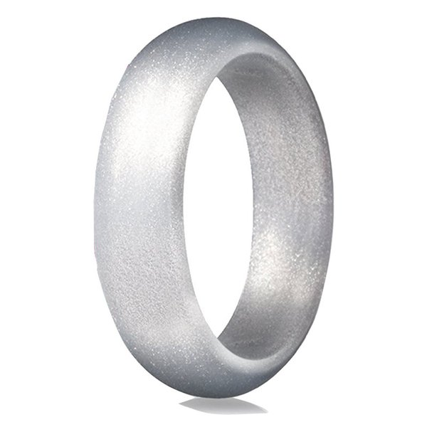 Free DHL Silicone Wedding Ring Rubber Engagement Bands 5.7 Mm Wide Pearl Powder Ring Jewelry For Outdoor Sports&Daily Wearing 9 Colors H507F