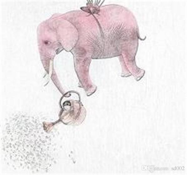 Abstrata Elefante Casa Arte Da Parede Pintura Prática Luz Decoração Da Família Pinturas A Vapor Impressão de Parede Pictures Cartaz Fácil Carry 5jc cc