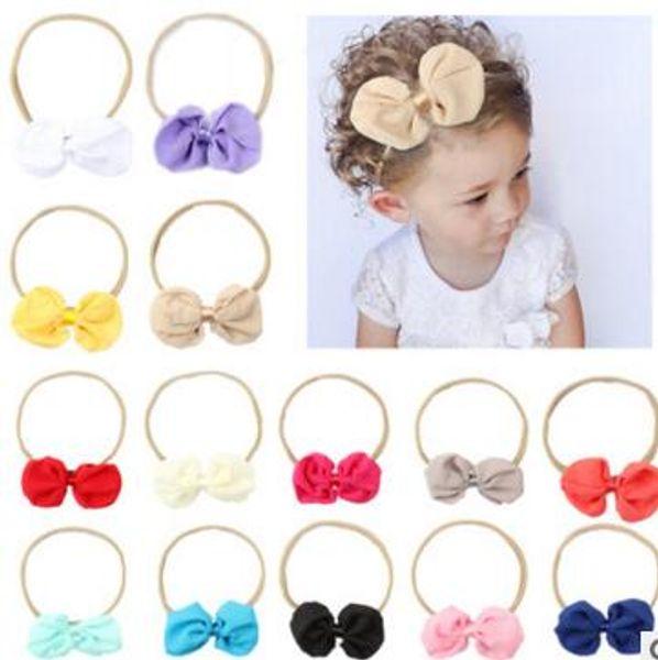 Nuevas Niñas Multicolor Arco Accesorios Para el Cabello Niños Niza Elasticidad banda para el cabello Banda para el cabello Accesorios Accesorios tocado de bebé 51507
