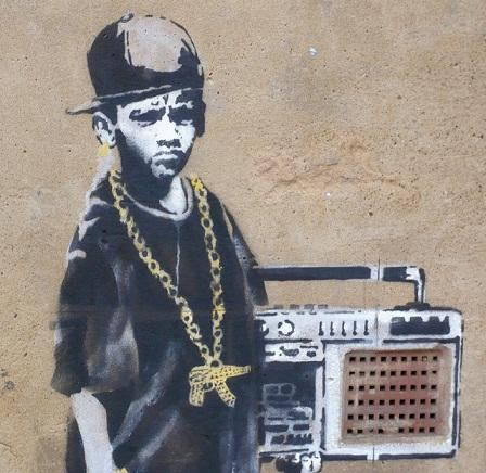Banksy graffiti Modern Abstract High Quality Hand Painted Oil Painting HIP HOP BOY on Canvas Home Decor for Wall Art Multi Sizes G188