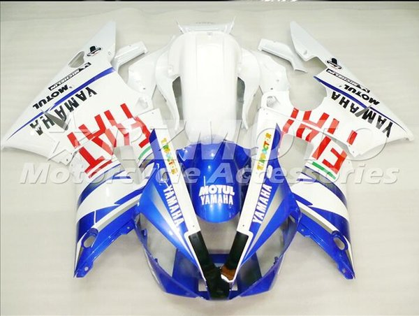 Injection mold New Fairings For Yamaha YZF-R1 YZF R1 00 01 R1 2000-2001 ABS Plastic Bodywork Motorcycle Fairing Kit Blue Q9