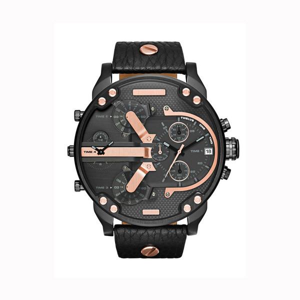 2019 Venta caliente Relojes Big Dail 50 MM Relojes para hombre Relojes de pulsera de cuarzo para hombres de negocios de estilo americano de Brasil