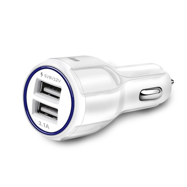 3.1A Dual USB Car Charger High-Quality Fast Charging Phone Car-charger adapter 5V/9V/12V for Samsung HUAWEI BLU Car Phone Charger