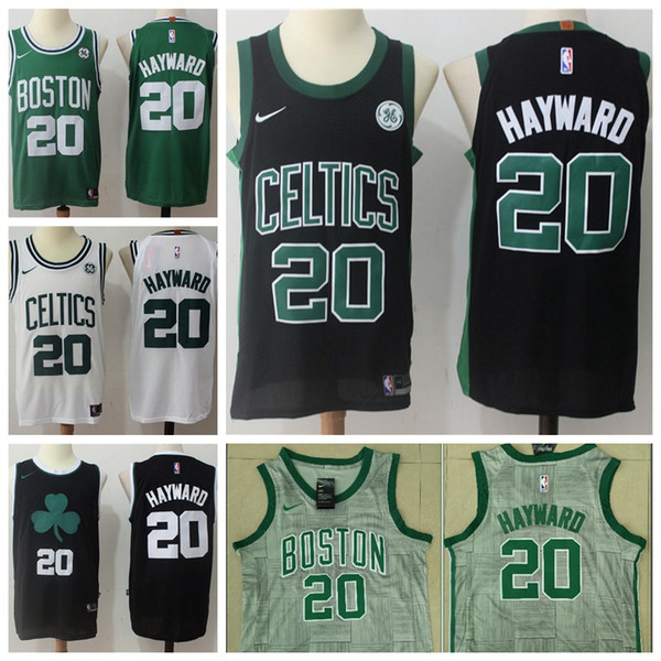 the latest bb04d 57380 2018 2019 Mens 20 Gordon Hayward Boston Jersey Celtics Basketball Jerseys  100% Stitched Mesh Dense AU Celtics Gordon Hayward Basketball Jerseys From  ...