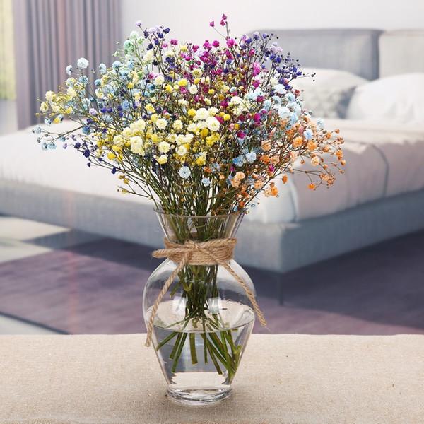 DHgate.com & Transparent Multicolor Glass Vase Terrarium Glass Containers Flower Vases Wedding Decoration Table Centerpieces Flowerpot Teal Vases For Sale Tin ...