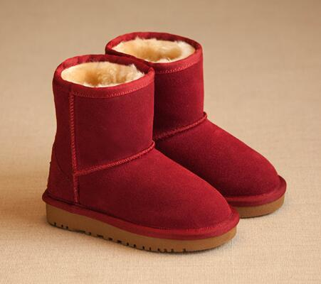best selling HOT NEW Boys and girls 281 snow boots flat winter children Australia snow boots leather autumn and winter warm non-slip cotton boots 1 pair