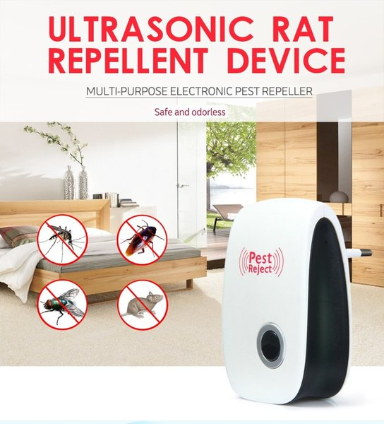 Ultrasonic Pest Repeller Reject Electronic Mosquito Killer Rat Mouse Repellent Anti Rodent Bug Cockroach Control Killer with retail Box