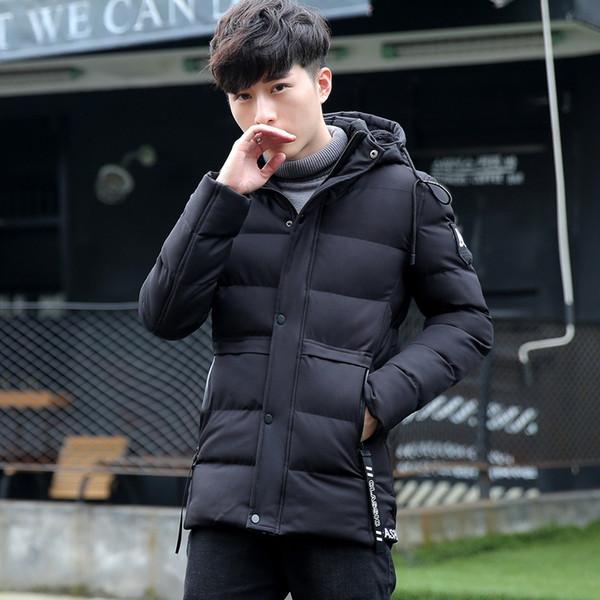 giacca lunga da uomo in coon da uomo coreano giacca spessa coon slim vestita con cappuccio camperos hombre invierno XD297