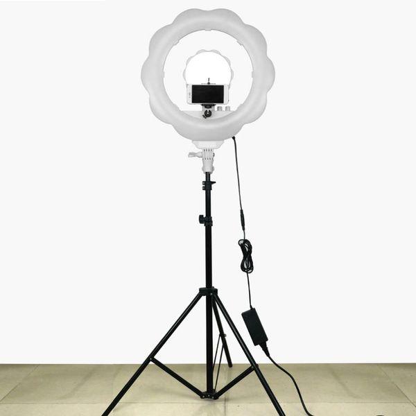 384pcs Súper Brillante LED Fotografía Luz Regulable Luz de Video Cámara de Luz de Anillo para Estudio de Maquillaje / Video / Foto
