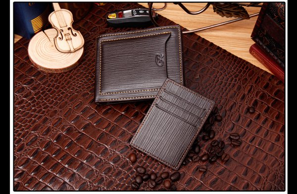 2018 Luxury Men's Leather Fashion Business Small Wallet Short MT Clip MB Premium Gift Bag Credit Card Holder Pocket Photo M B Wallets