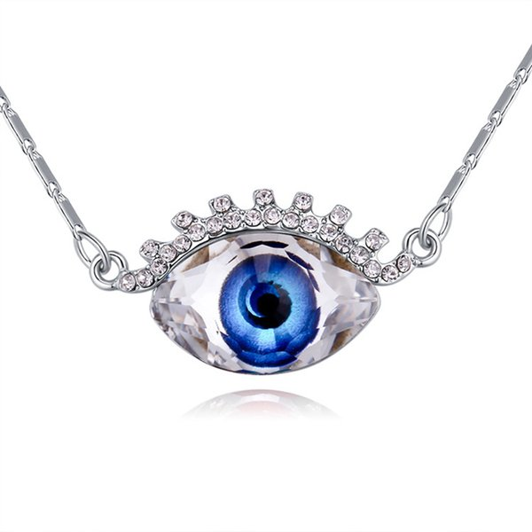 Eye crystals drop pendant necklace Crystals from Swarovski fashion jewelry for women girl birthday Christams gift 2018