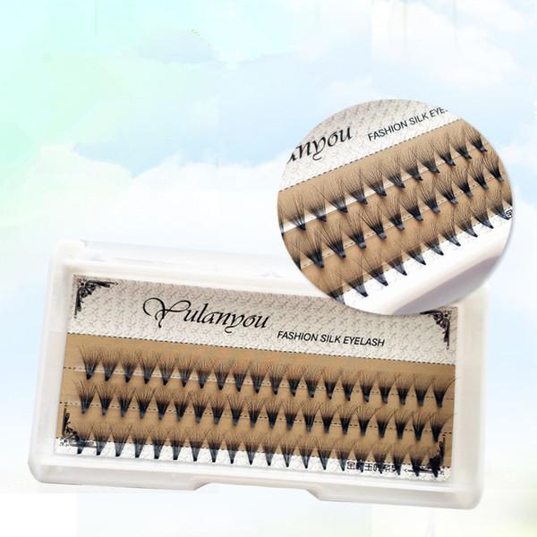 1 Set 0.07 C 20D Beauty Women Long Thick False Eyelashes Wave Individual Eyelashes Extension Mink Black Soft False Eye Lashes