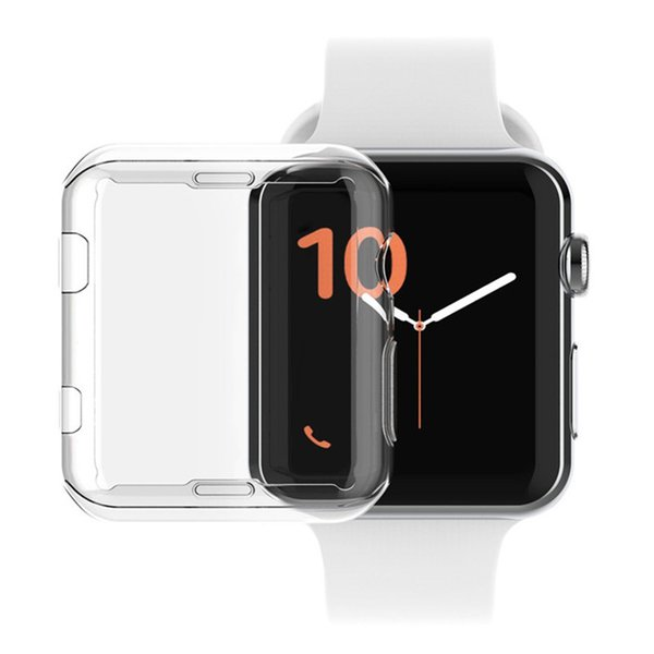 Slim Transparent Crystal Clear Hard Watch Ultra Thin Case Cover PC Protective for Apple iWatch Series 3 Series3 38mm 42mm