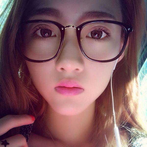 2018 Kadın Gözlük Çerçeve Kadın Gözlük Eski Optik Gözlük Reçete Siyah Beyaz Çerçeve