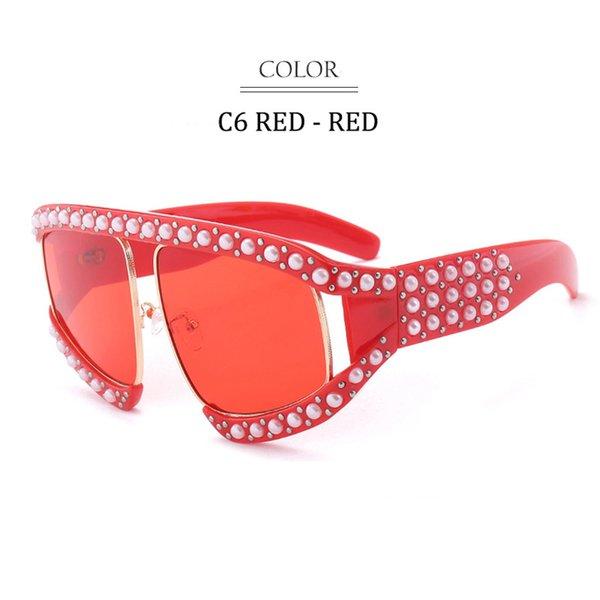 C6 Red Frame Red Lens
