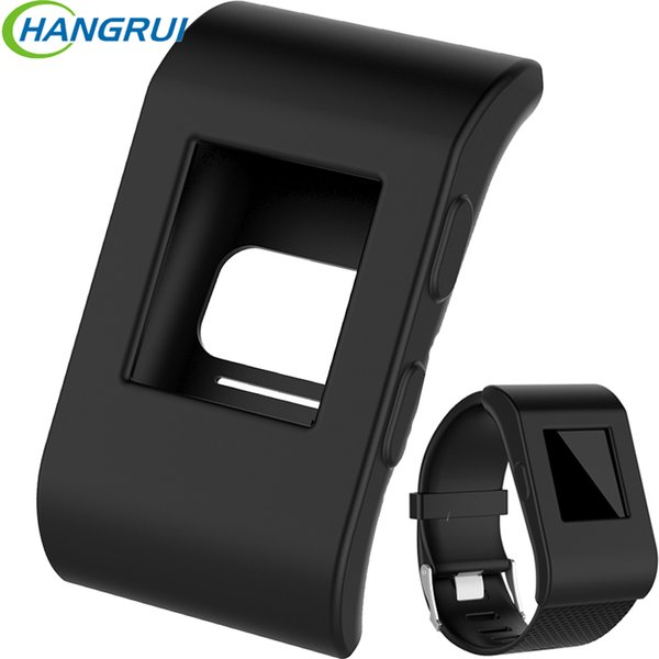 Silicone watch case box for Fitbit surge smart watch screen protector full protective cover for smartwatch fitbit case