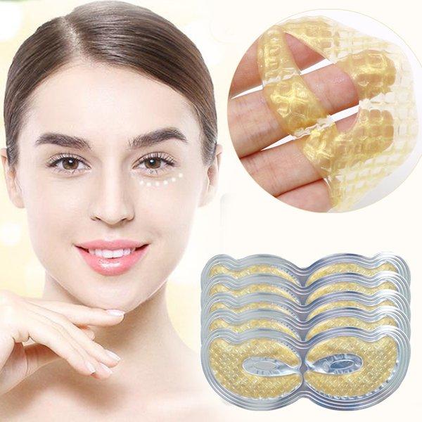 200 Pairs Altın Maske Kollajen Göz Maskesi Göz Yama Gözler Çanta için Kaldırma Koyu Halkalar Yüz Maskesi Anti Aging Göz Cilt Bakımı