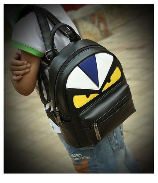 Neue koreanische Studenten Designer Rucksack kreative Persönlichkeit PU Mode Flut Eule Rucksack Schultertasche Wholesale Freies Verschiffen