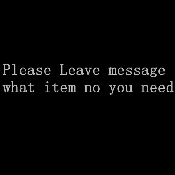 Leave message what item you want