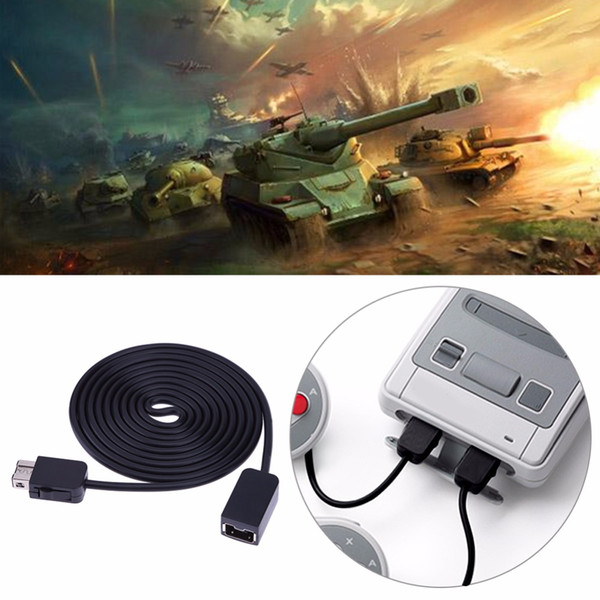 top popular ALLOYSEED Game Accessories Cables 1.8m 5.9ft Extension Cable for Nintendo SNES Classic Mini Console for NES Wii Controller 2021