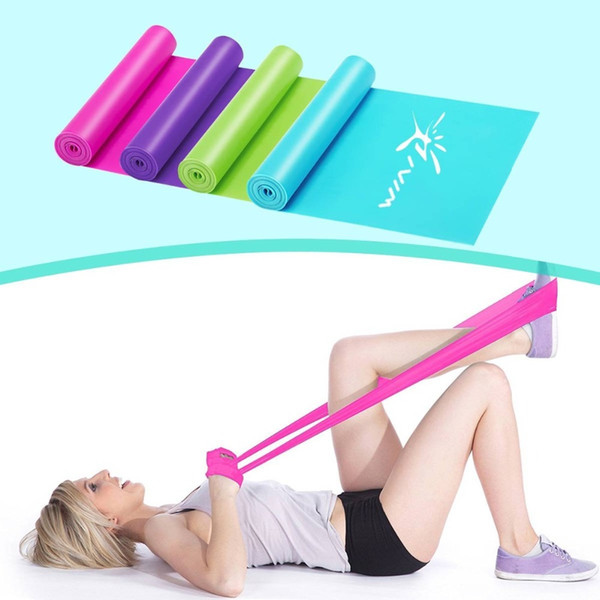 2.3m fitness resistance bands Latex Rubber band for Yoga fitness equipment workout exercise elastic band gum for