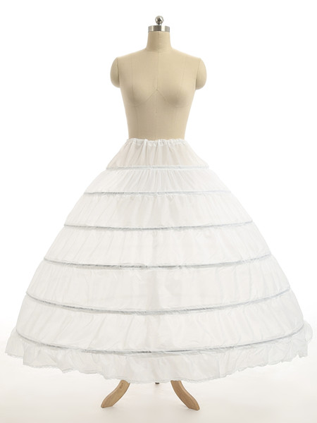 Super günstige Ballkleid 6 Hoops Petticoat Hochzeit Slip Krinoline Braut Unterrock legt Slip 6 Hoop Rock Krinoline für Quinceanera Kleid