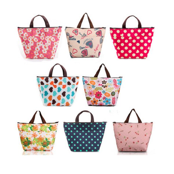 Fashion Printing Oxford cloth zipper Aluminum foil lunch storage bag Portable lunch box insulation ice pack ice bag Home Storage 2018 new