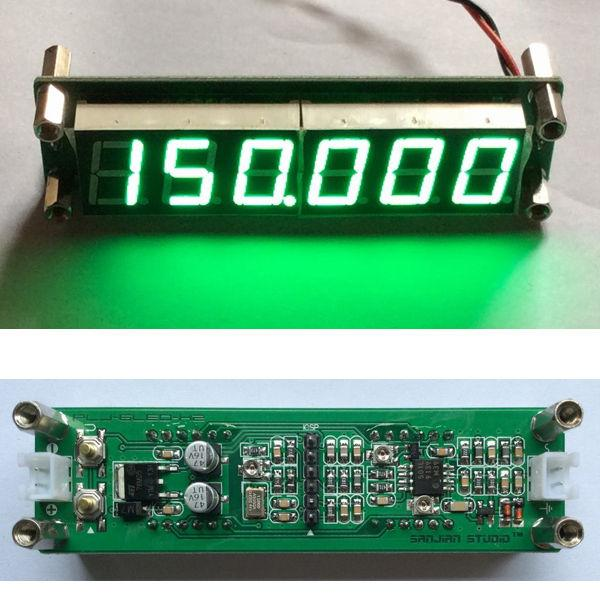 Freeshipping GREEN 1MHz to 1000MHz RF Singal Frequency Counter Tester Meter Digital LED for Ham Radio Amplifier