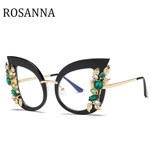 fd88e17dd31 ROSANNA New 2018 Fashion pearl Cat Eye Glasses Frames Brand Design Vintage  Cat Eye Eyeglasses Frame Women Hot Selling Eyewear