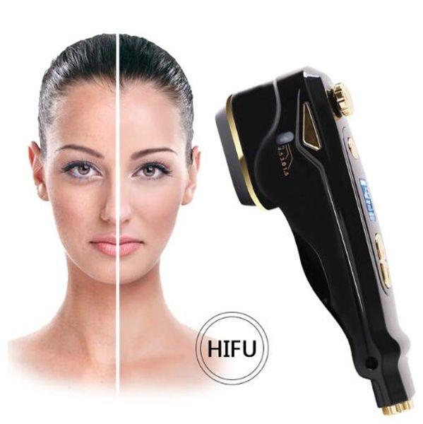 Mini HIFU For Home use Ultrasonic RF Antiaging Skin Lifting Facial Care Machine Focused Ultrasound Skin Rejuvenation Wrinkle Device