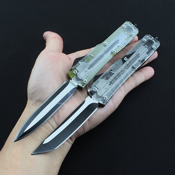 Newest 4 type Micro Automatic Knife Tanto Double Action Out The Front Auto Knives 440c Outdoor Camping Self-Defense Edc A07 A162 hand Tools
