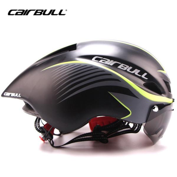 Bicycle Helmet Road Time Trial Triathlon XC Bike Fast Aero Racing Helmet Magnetic Absorption Goggles Visor Men Cycling