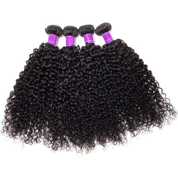 4Bundles Mink Brazilian Virgin Deep Curly Hair Weave Bundles 8-30 inch 100% Jet Natural Black Deep Curly Human Hair Bundle Deals