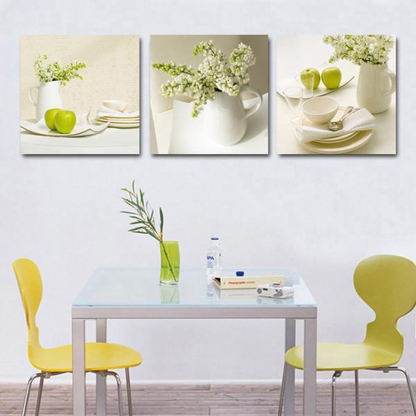 Großhandel 3 Stücke Obst Küche Bilder Abstrakte Schöne Ölgemälde Hause  Wandkunst Günstige Modulare Bilder Wandbilder Für Wohnzimmer Y18102209 Von  ...