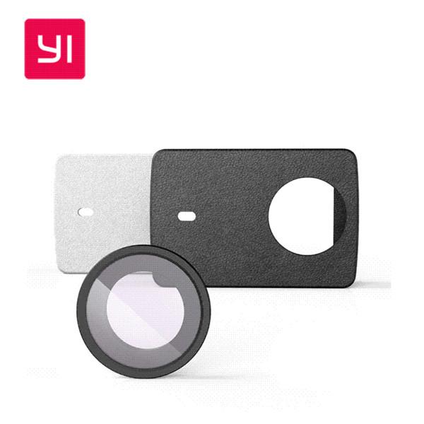 Original YI 4K Action Camera Schutzlinse + PU Ledertasche für Xiaomi Xiaoyi 4K Action Camera Zubehör