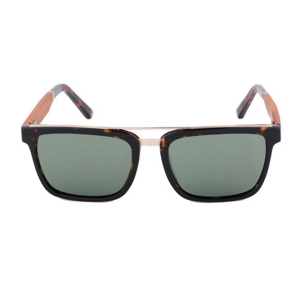Neue Produkt Männer Frauen Holz Bambus Polarisierte Sonnenbrille Holz Metall PC SplFrame
