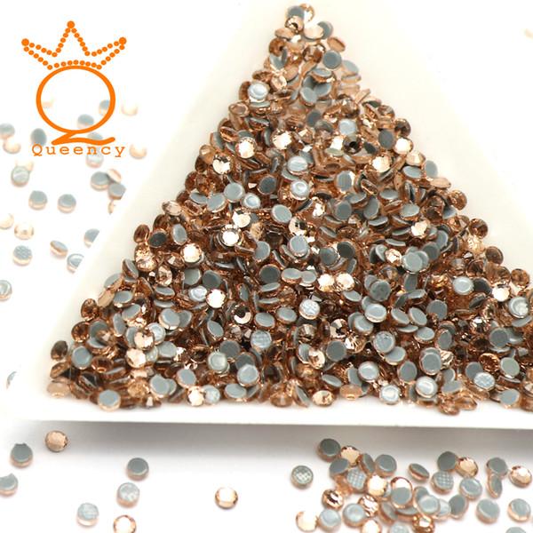 10 Sizes SS3-SS30 Light Peach Color Crystal And Stones Flatback Rhinestones Hotfix Rhinestones For Clothing Nail Art Decoration