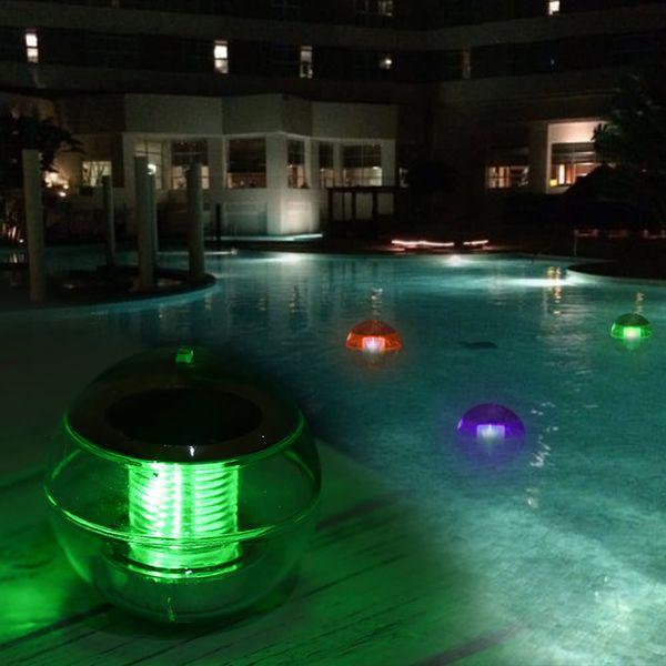 L1617 IP65 Solar Powered Color Changing Bola flotante de agua Lámpara LED Luz colgante al aire libre para estanque de jardín Colgante Luz Al Aire Libre