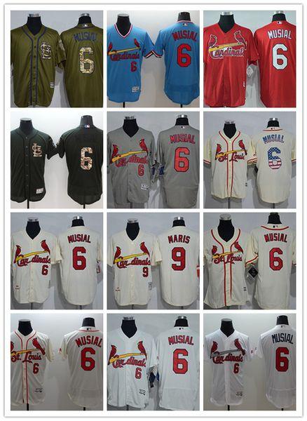 5157fe62 2018 Custom Men Women Youth St. Louis Cardinals Jersey #6 Stan Musial 9  Roger Maris Home Blue Red White Grey Baseball Jerseys From Topjerseys_,  $25.04 ...