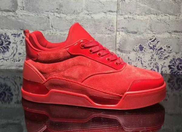 Wholesale Price - Lowtop Aurelien Sneakers Fla Women,Men Red Bottom Shoes Perfect Quality Casual OutdoorS With Box 635
