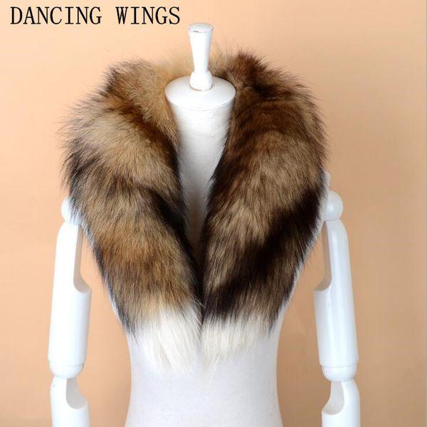 Men Women Genuine Fox Fur Scarf 100% Real Natural Fox Fur Collar Scarves Wraps Good Quality Ring Muffler