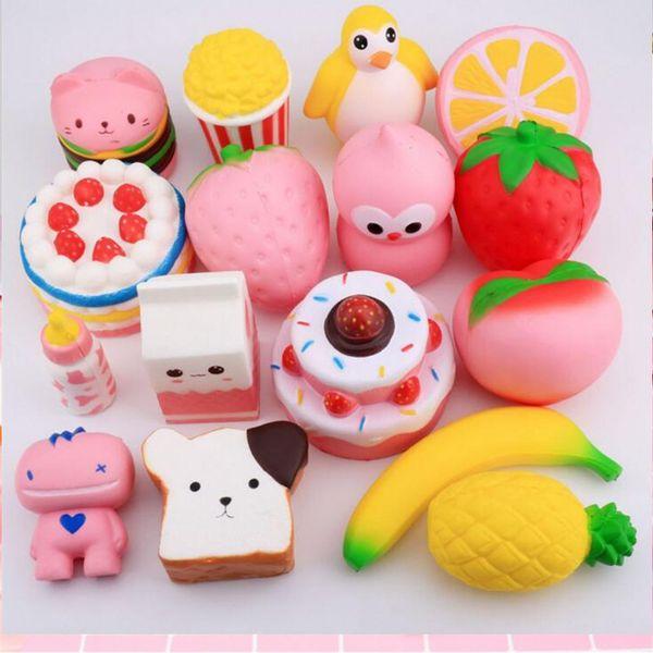 best selling New fashion Kawaii Squishy Rilakkuma Donut Soft Squishies Cute Phone Straps Bag Charms Slow Rising Squishies Jumbo Buns Phone Charms