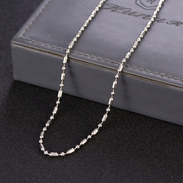 Simple round bead chain bamboo lovers chain titanium steel pendant with DIY chain accessories
