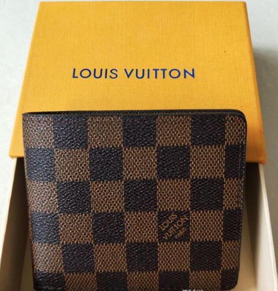 2018 new bag billfold High quality Plaid pattern women wallet men pures high-end luxury brand designer L wallet NO box