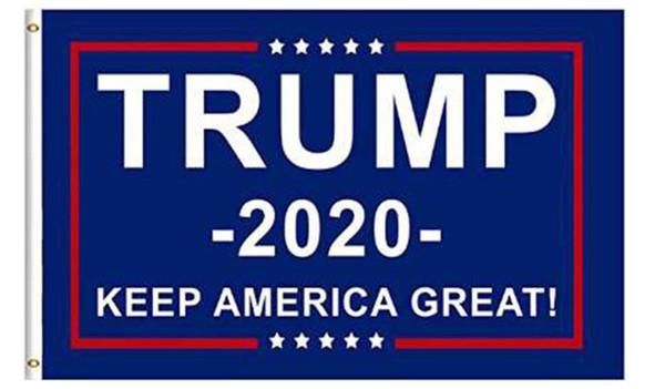 Moins cher 90 * 150cm Trump 2020 élection drapeaux garder l'Amérique Grand drapeau 5 styles Double Face Imprimé Polyester Décor Bannière Pour Le Président USA