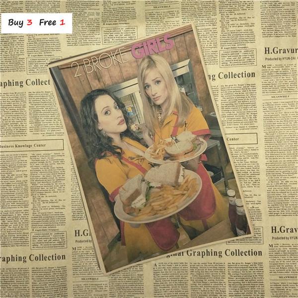 Home Decor Vintage Classic 2 сломал девушки сериал фильм плакат ретро крафт-бумага бар кафе живопись стикер стены